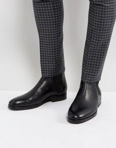 Черные кожаные ботинки челси Hudson London Tonti - Черный