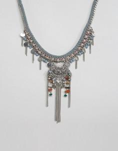 Ожерелье-воротник Pieces Moris - Серебряный