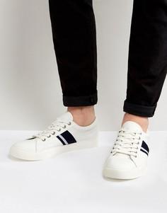 Белые кеды со шнуровкой и полосками ASOS - Белый