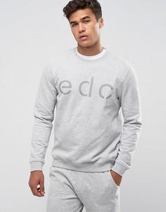 Свитшот с названием бренда Esprit - Серый