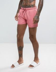 Розовые шорты для плавания с логотипом Rose London - Розовый