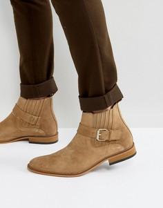 Светло-коричневые замшевые ботинки с пряжками House Of Hounds Adrian - Рыжий