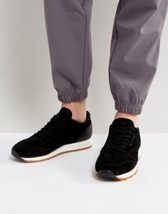 Черные классические замшевые кроссовки на каучуковой подошве Reebok BS7892 - Черный