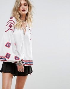 Блузка с вышивкой Tularosa - Белый
