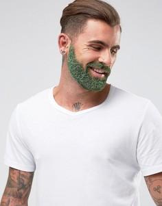 Набор с блестками для ухода за бородой Mens Society - Зеленый - Бесцветный