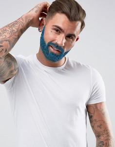 Набор с блестками для ухода за бородой Mens Society - Синий - Бесцветный