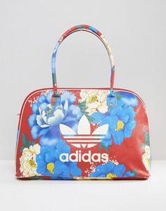 Дорожная сумка с крупным цветочным принтом adidas Originals - Мульти