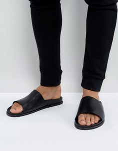 Кожаные шлепанцы ALDO Afivia - Черный