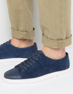 Темно-синие замшевые кроссовки Dune Tate Lo - Синий