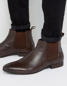 Коричневые кожаные ботинки челси Dune Mister - Коричневый