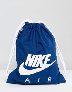 Темно-синяя спортивная сумка-мешок с логотипом Nike BA5430-423 - Темно-синий