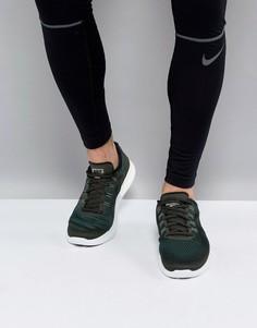 Кроссовки цвета хаки Nike Running Free Run 2017 880839-300 - Зеленый