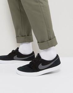 Черные кроссовки Nike SB Portmore 880266-001 - Черный