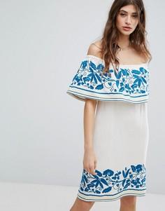 Платье с вышивкой Maison Scotch - Белый
