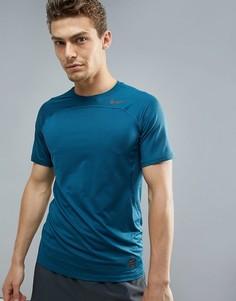 Синяя спортивная футболка Nike Pro HyperCool 828178-425 - Синий