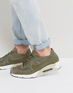 Зеленые кроссовки Nike Air Max 90 Ultra Flyknit 875943-200 - Зеленый