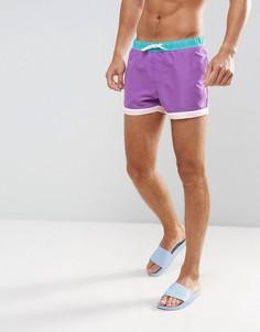 Короткие шорты для плавания ASOS - Фиолетовый