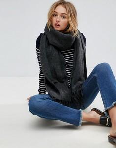 Длинный мягкий шарф с кисточками ASOS - Серый