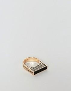 Кольцо с золотистым тиснением ASOS - Золотой
