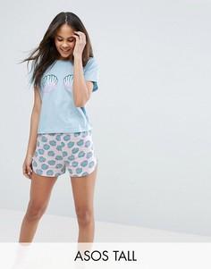 Пижама с ракушками ASOS TALL - Мульти
