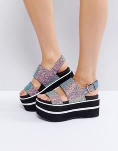 Блестящая обувь на платформе ASOS TRANCE - Мульти