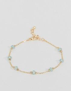 Тонкий браслет-цепочка с камнями ASOS - Медный