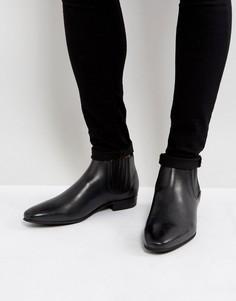 Черные кожаные ботинки челси Hudson London Zelus - Черный