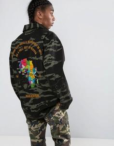 Камуфляжная куртка-рубашка Maharishi Tour DAfrique - Черный