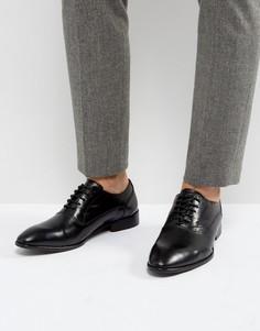 Черные кожаные оксфордские туфли Base London Holmes - Черный