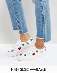 Кроссовки со звездами ASOS DAWN - Белый