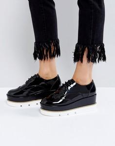 Туфли на платформе и шнуровке ASOS OUTSHINE - Черный