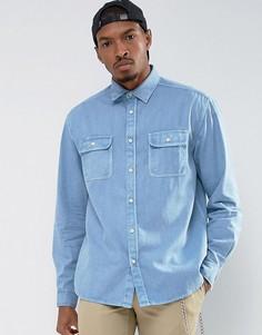 Синяя выбеленная оверсайз-рубашка ASOS - Синий