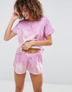 Пижамный комплект с тропическим принтом ASOS - Мульти