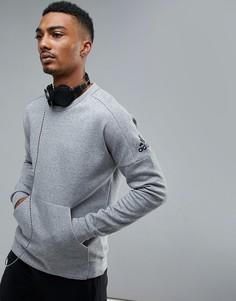 Серый свитер с круглым вырезом adidas Athletics Stadium CF2404 - Серый