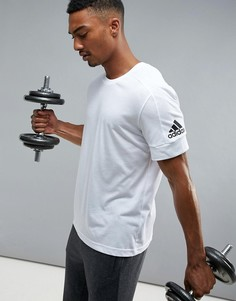 Белая футболка с принтом adidas Athletics Stadium S98712 - Белый