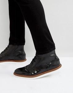 Черные кожаные ботинки на шнуровке House Of Hounds - Черный