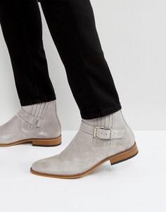 Серые замшевые ботинки с пряжками House Of Hounds Adrian - Серый