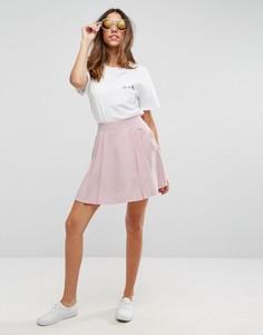 Мини-юбка со складками ASOS - Розовый