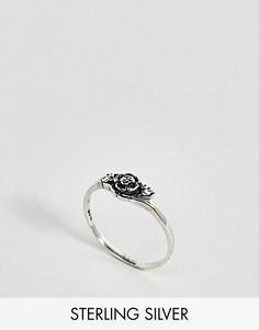 Серебряное кольцо с розой Regal Rose - Серебряный