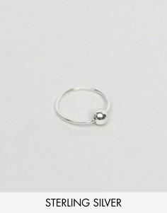 Серебряное кольцо в нос с шариком Reclaimed Vintage Inspired - Серебряный