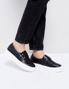 Черные кроссовки на платформе Lost Ink Barbell - Черный