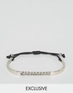 Браслет из плетеного шнурка и металла DesignB London эксклюзивно для ASOS - Серебряный