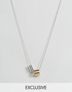 Ожерелье-цепочка с подвесками DesignB London эксклюзивно для ASOS - Золотой