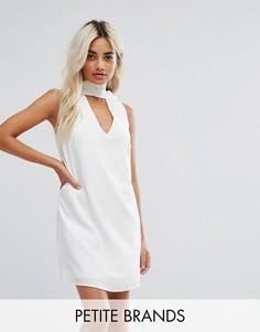 Платье-туника с высоким воротом и вырезом Fashion Union Petite - Белый