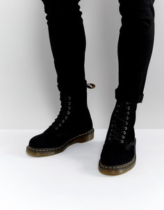 Замшевые ботинки Dr Martens 1460 - Черный