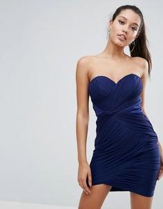 Платье мини с отделкой Lipsy - Темно-синий