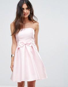 Платье-бандо для выпускного Glamorous - Розовый