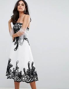 Платье без бретелек Forever Unique - Белый