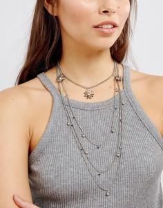 Изысканное многорядное ожерелье‑чокер Glamorous - Серебряный