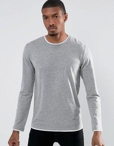 Лонгслив с контрастным низом Esprit - Серый